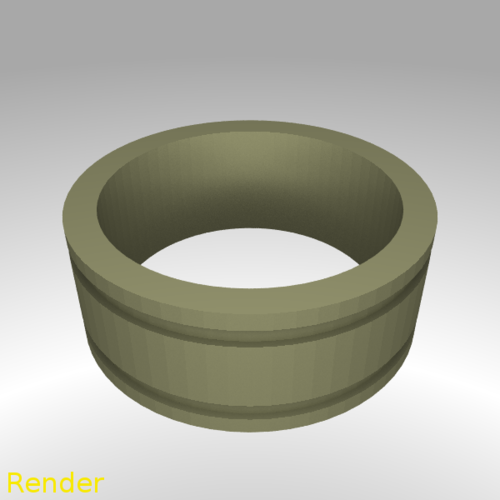 Ring Engraved Lines - Size 7 3D Print 213305