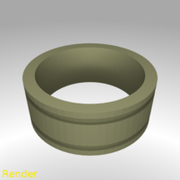 Small Ring Engraved Lines - Size 7 3D Printing 213305