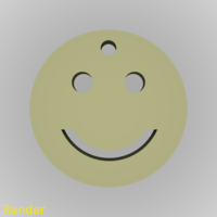 Small Smiley Emoji Happy Keychain 3D Printing 213327