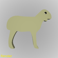Small Lamb Silhouette Key Chain 3D Printing 213339