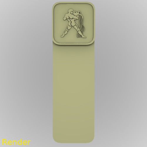 Aquarius Zodiac Reading Bookmark 3D Print 213371
