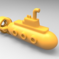 Small Toy submarine 3D Printing 21339