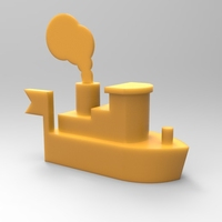 Small Toy ship 3D Printing 21340