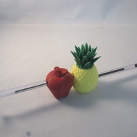 Small PPAP 3D Printed Pen-Pineapple-Apple-Pen holder 3D Printing 213429