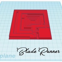 Small Blade runner Tile 3D Printing 213439