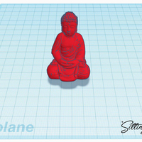 Small Sitting Budha 3D Printing 213442