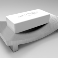 Small Soap dish B (Zen Style) 3D Printing 21345