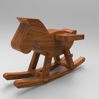 Small Rocking horse 3D Printing 21350