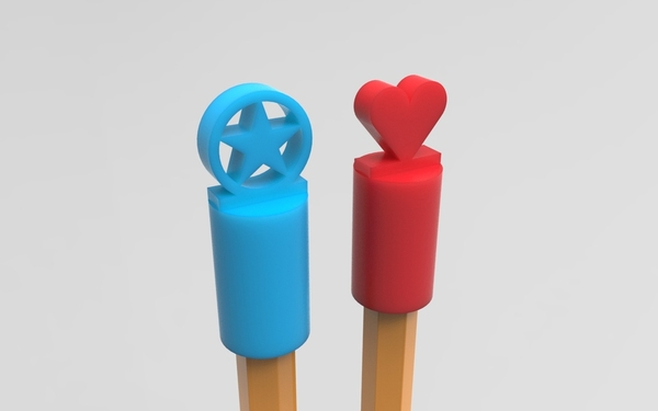 Medium Pencil topper 3D Printing 21352