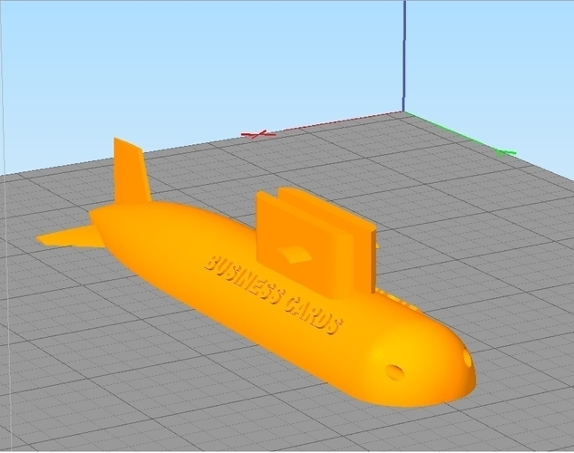 SUBMARINE DESKTOP BUSINESS CARD HOLDER 3D Print 213547