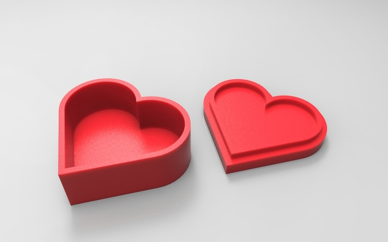 Heart jewelry box 3D Print 21356
