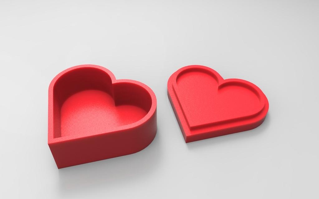 3D Printed Heart jewelry box by alienkim Pinshape