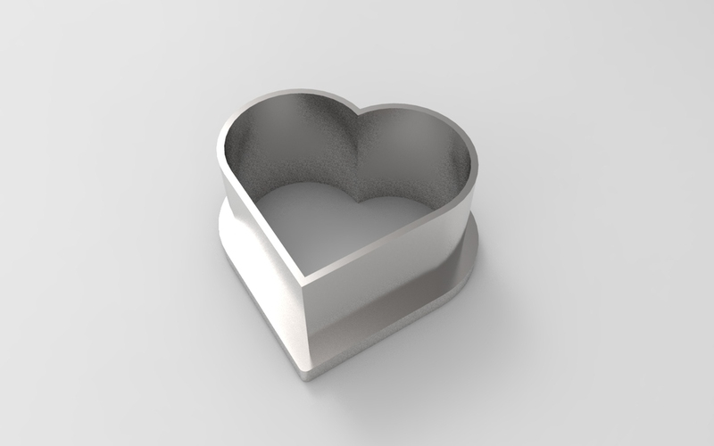 Heart cookie cutter 3D Print 21357