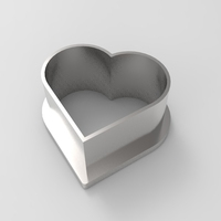 Small Heart cookie cutter 3D Printing 21357