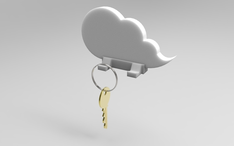 Cloud keychain holder 3D Print 21360