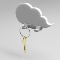 Small Cloud keychain holder 3D Printing 21360