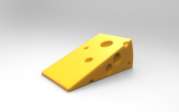 Medium Cheese door stopper 3D Printing 21362