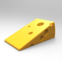 Small Cheese door stopper 3D Printing 21362
