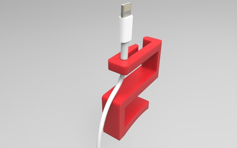 Charger wire holder 3D Print 21363