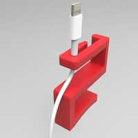 Small Charger wire holder 3D Printing 21363