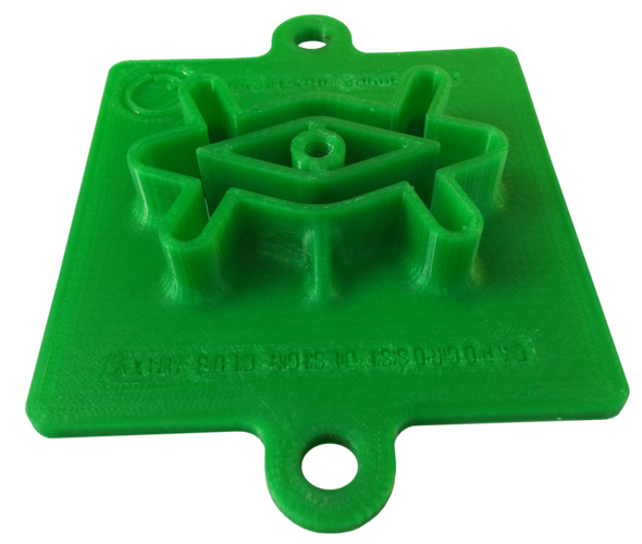"Romboid extruder die 4""x4"" (hollow) for ceramics 3D Print 213723"