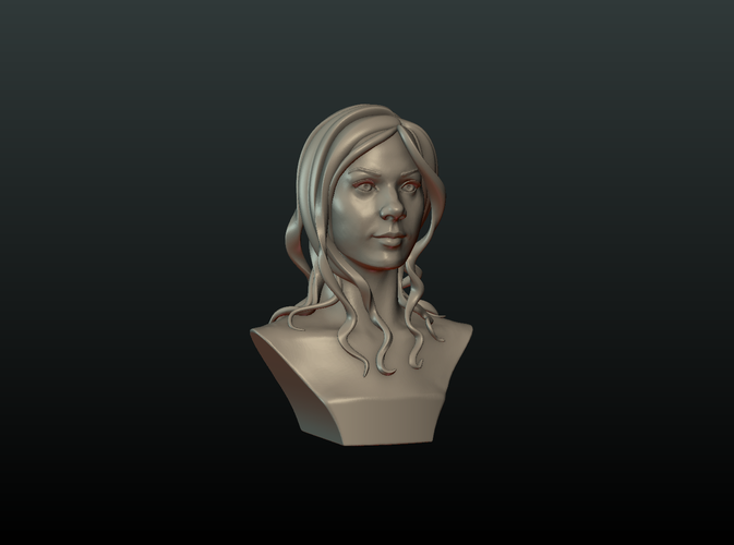 ​Woman Head and Hairstyle 3D Print 213730
