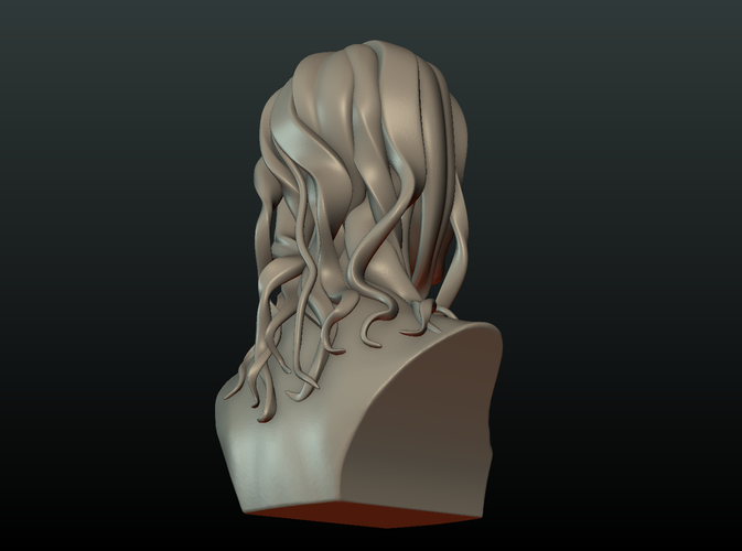 ​Woman Head and Hairstyle 3D Print 213731