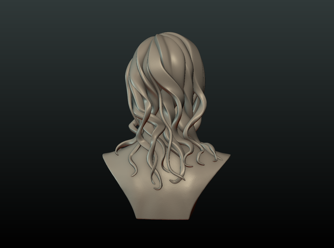 ​Woman Head and Hairstyle 3D Print 213733
