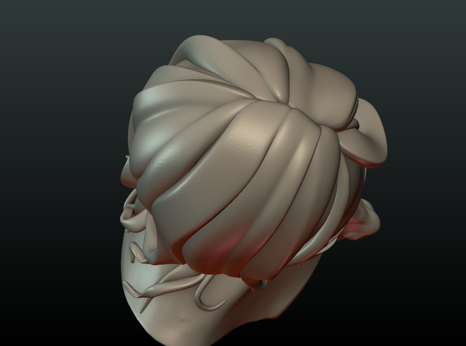 ​Woman Head and Hairstyle 3D Print 213739