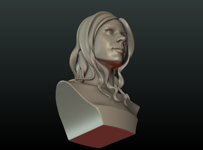 ​Woman Head and Hairstyle 3D Print 213740