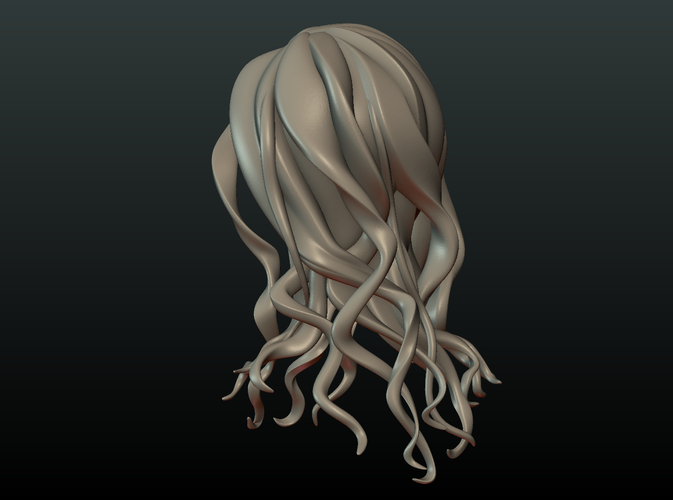 ​Woman Head and Hairstyle 3D Print 213745