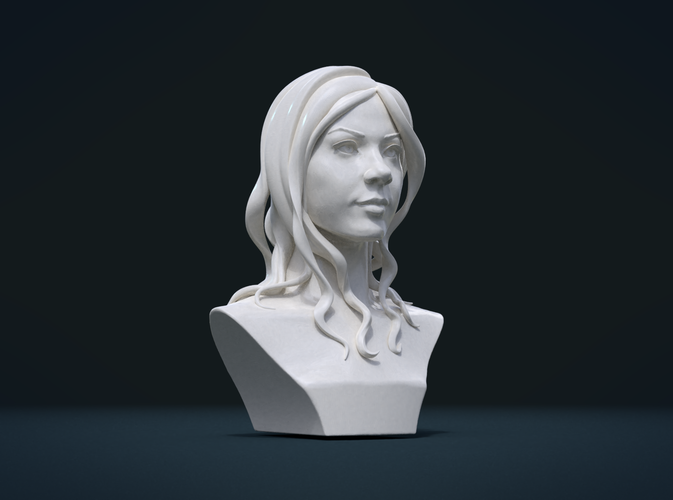 ​Woman Head and Hairstyle 3D Print 213750