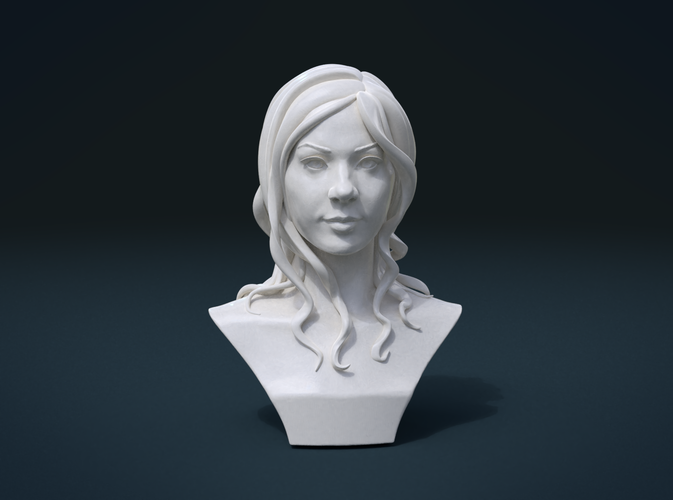 ​Woman Head and Hairstyle 3D Print 213751