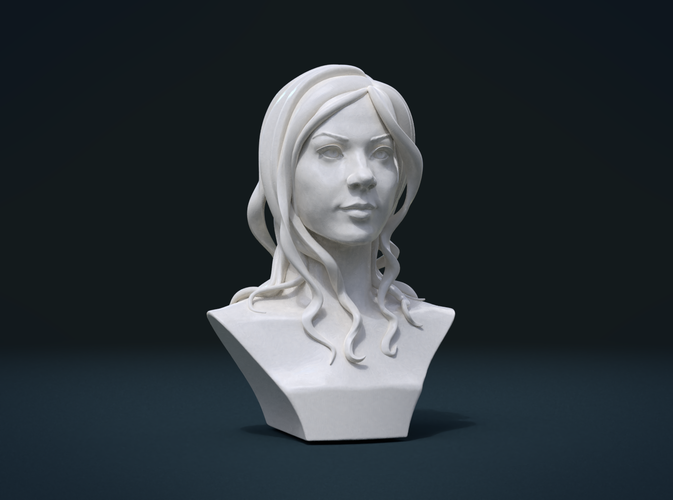 ​Woman Head and Hairstyle 3D Print 213754