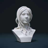 Small ​Woman Head and Hairstyle 3D Printing 213754