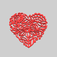 Small heart 3D Printing 213763