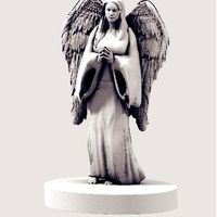 Small Angel Statue 3D Printing 21379