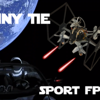 Small TINY TIE - 3D PRINTABLE INDOOR FPV TIE FIGHTER QUADCOPTER  3D Printing 214020