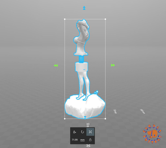 Dashboard Dancing Bobble Hula Girl 3D Print 214041
