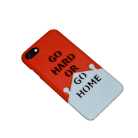 "Small iPhone 7 personalized bicolor case - ""GO HARD OR GO HOME"" 3D Printing 214078"