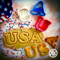 Small USA Cookie Cutter #2 (4th of July Special Edition) 3D Printing 21421