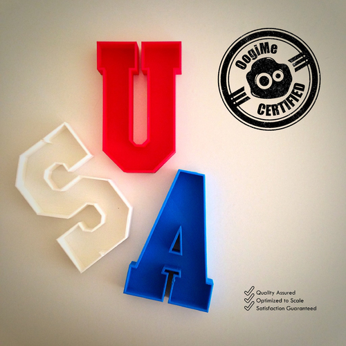 USA Plates (4th of July Special Edition) 3D Print 21422
