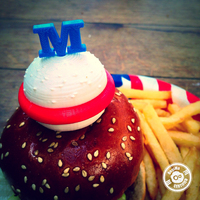 Small Hamburger Pin (4th of July Special Edition) 3D Printing 21424