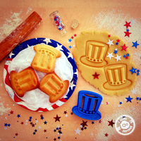 Small Uncle Sam's Hat Cookie Cutter (4th of July Special Edition) 3D Printing 21427