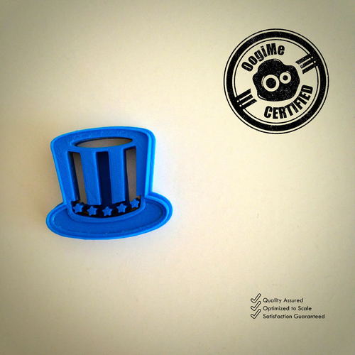 Uncle Sam's Hat Cookie Cutter (4th of July Special Edition) 3D Print 21428