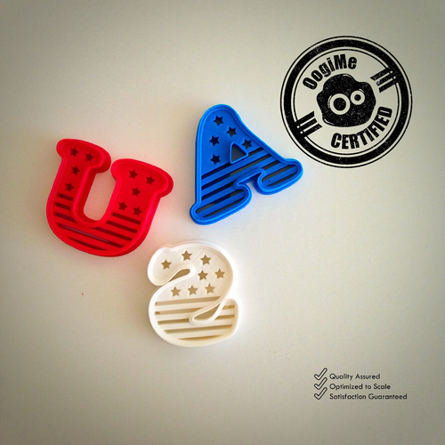USA Cookie Cutter (4th of July Special Edition) 3D Print 21430