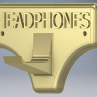 Small Simple Headphones Stand 3D Printing 214376