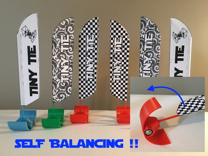 Self Balancing Indoor Drone Racing Flags 3D Print 214384