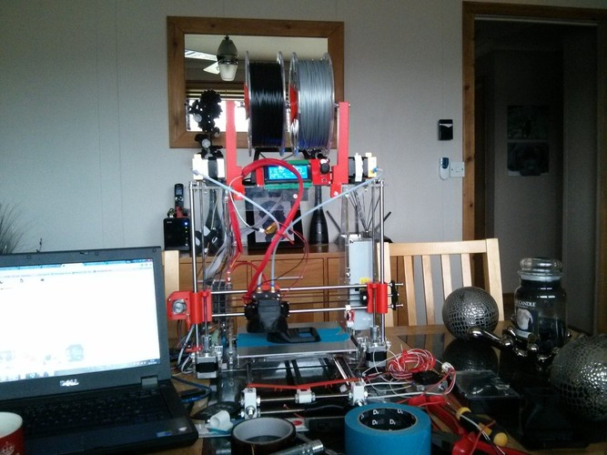 Prusa i3 dual spool holders 3D Print 21443