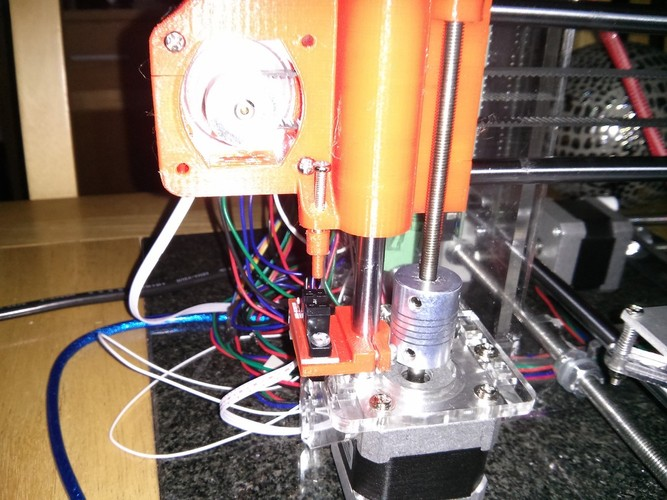Prusa i3 Z axis mount for optical endstop 3D Print 21451